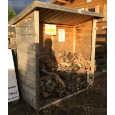Rustic Log Store 5x2 - Ex-Display Bristol