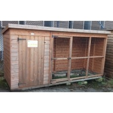 Pent Kennel & Run 12x4 - Ex-Display Bude