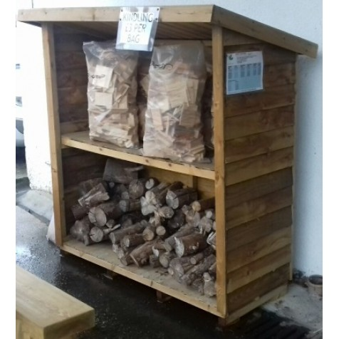 Rustic Log Store 5x3 - Ex-Display Bude