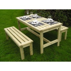 Garden Table & Bench Set Garden Furniture