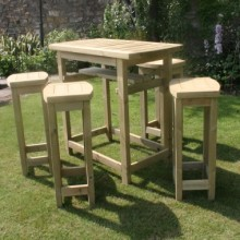 High Table & Stools Set Garden Furniture