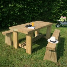Garden Table & Bench Set